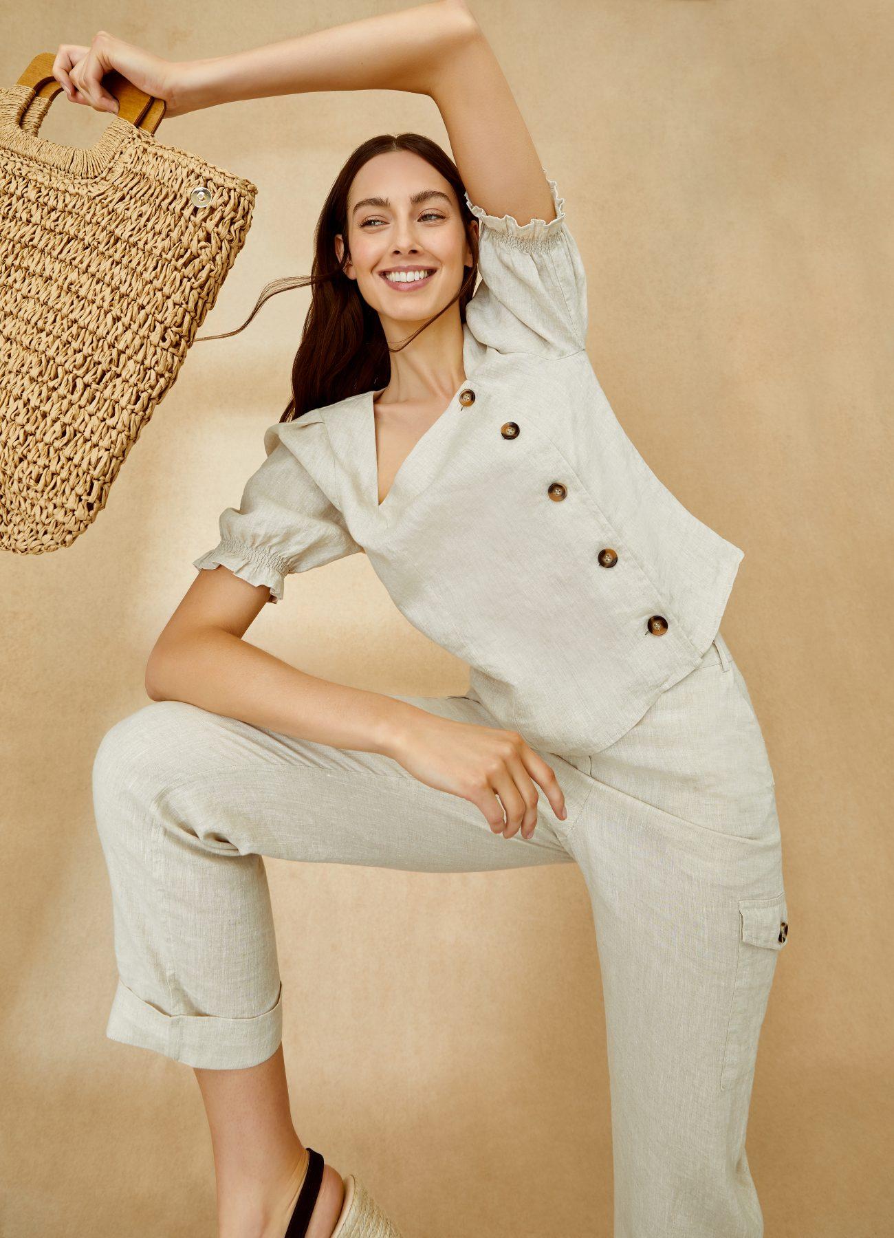 Phase Eight Eleta Linen Top £69, Florrie Linen Trousers £75